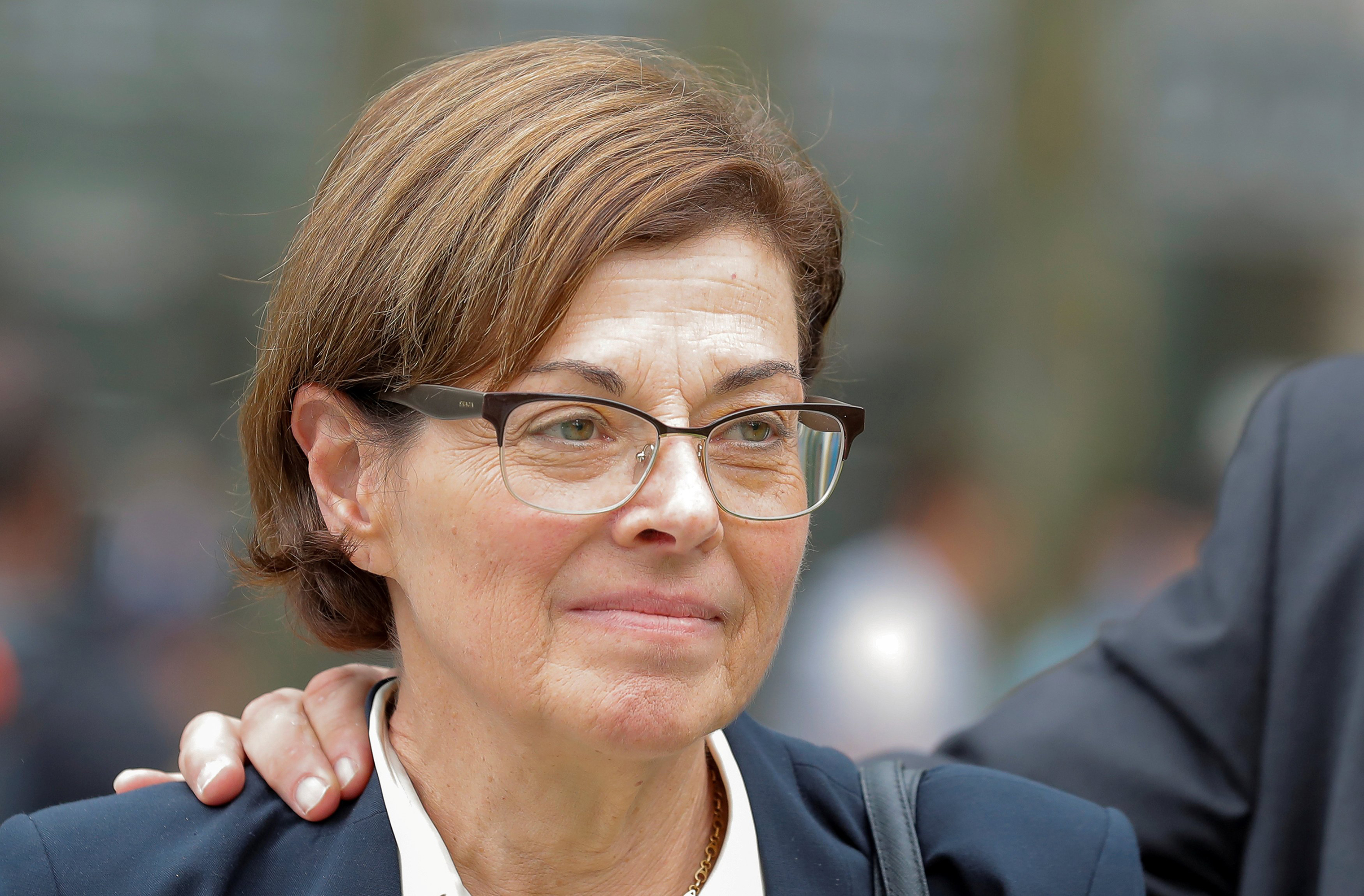 Nancy Salzman exits following a hearing on charges in relation to the Albany-based organization NXIVM at the United States Federal Courthouse in Brooklyn at New York, U.S., on July 25, 2018.