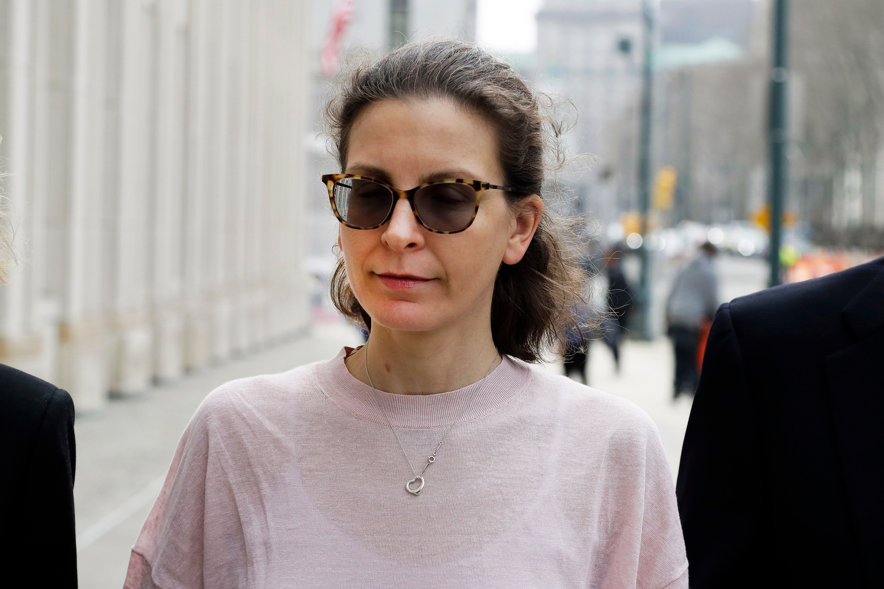 Clare Bronfman, a member of NXIVM, arrives at Brooklyn Federal Court, in New York on April 8, 2019.