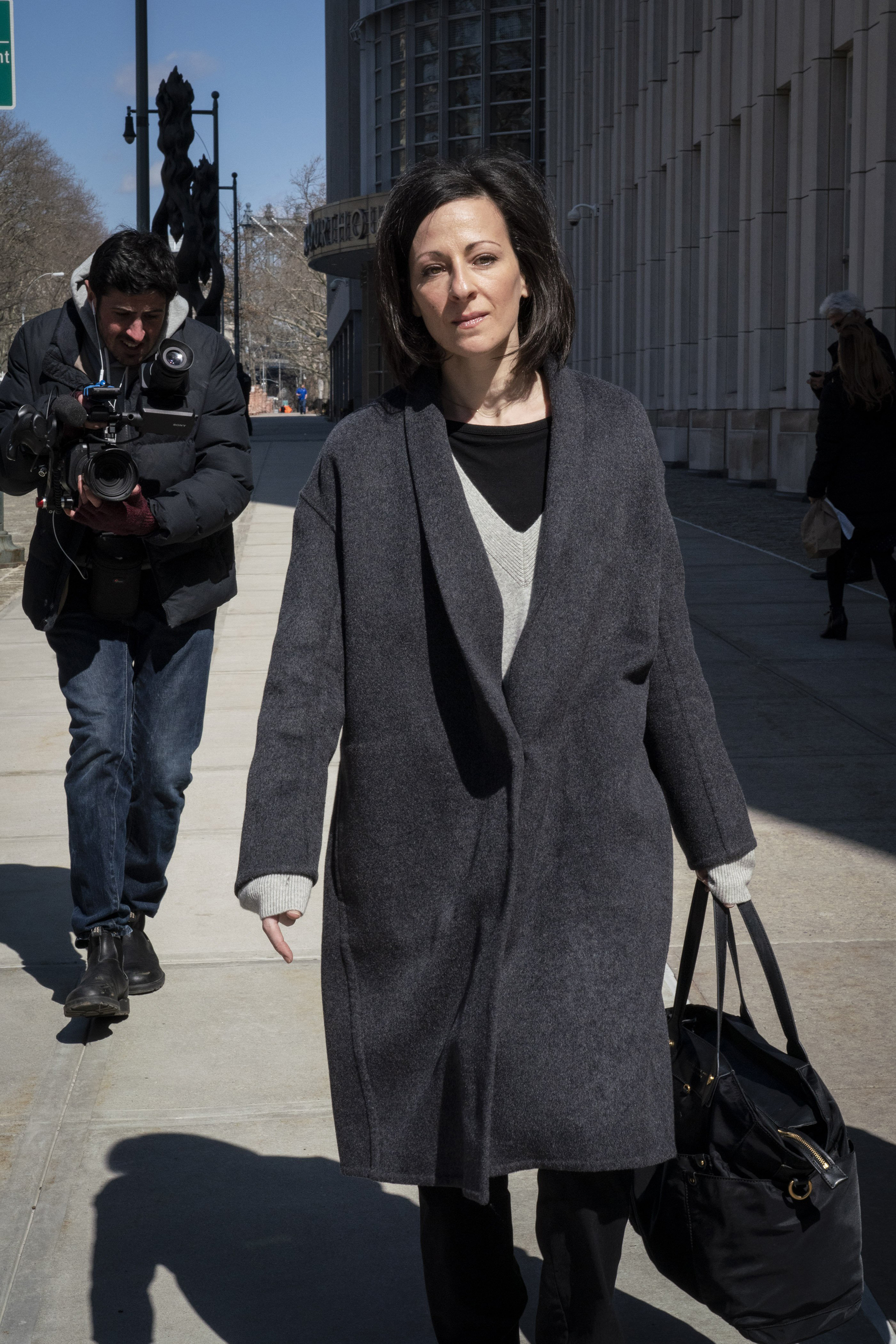 Lauren Salzman leaves the Federal Courthouse in Brooklyn on March 18, 2019.
