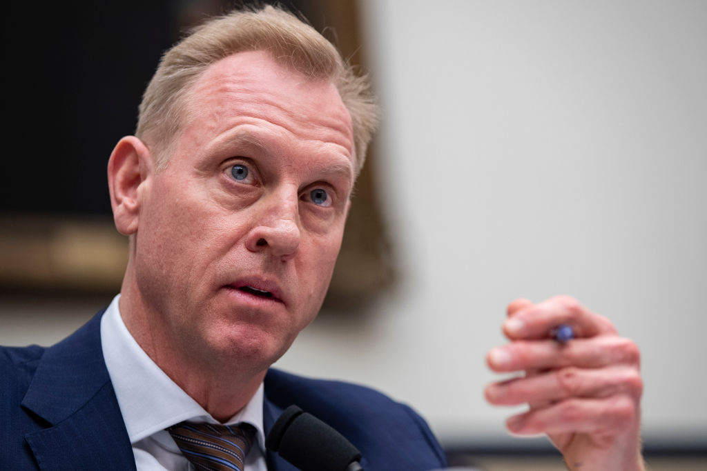 Acting Secretary of Defense Patrick Shanahan testifies during a House Armed Services Committee hearing, March 26, 2019 in Washington, DC. Shanahan was cleared by the Pentagon of violating ethics standards and favoring his former employer Boeing.