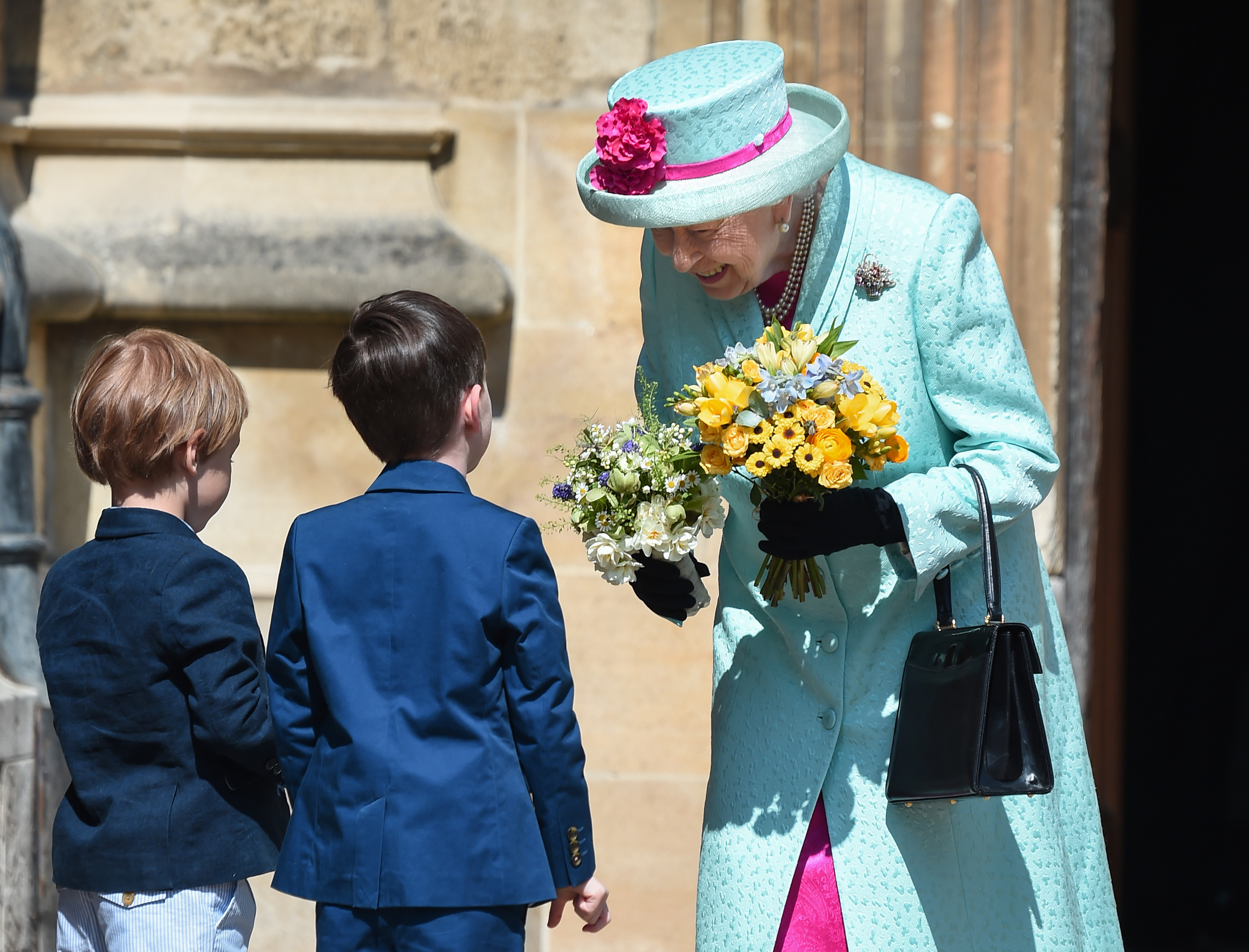 WINDSOR, ENGLAND - APRIL 21: Queen Elizabeth II departs the Easter Sunday service at St George's Chapel on April 21, 2019 in Windsor, England. (Photo by Eamonn M. McCormack/Getty Images)