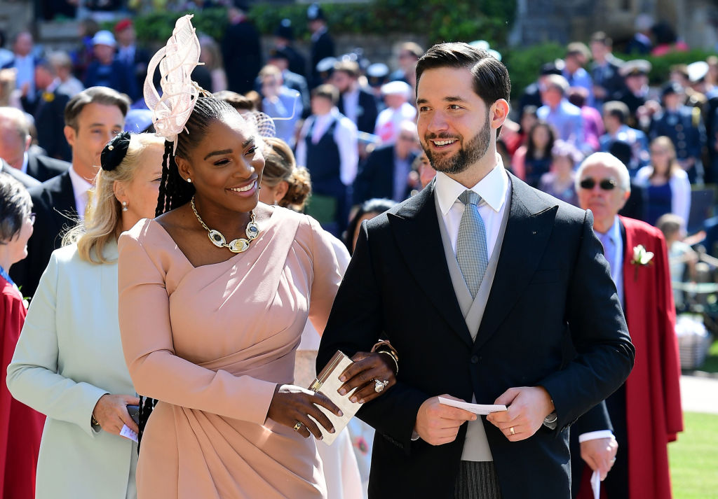 US tennis player Serena Williams and her husband Alexis Ohanian arrive for the wedding ceremony of Britain's Prince Harry, Duke of Sussex and US actress Meghan Markle at St George's Chapel, Windsor Castle, in Windsor, on May 19, 2018.