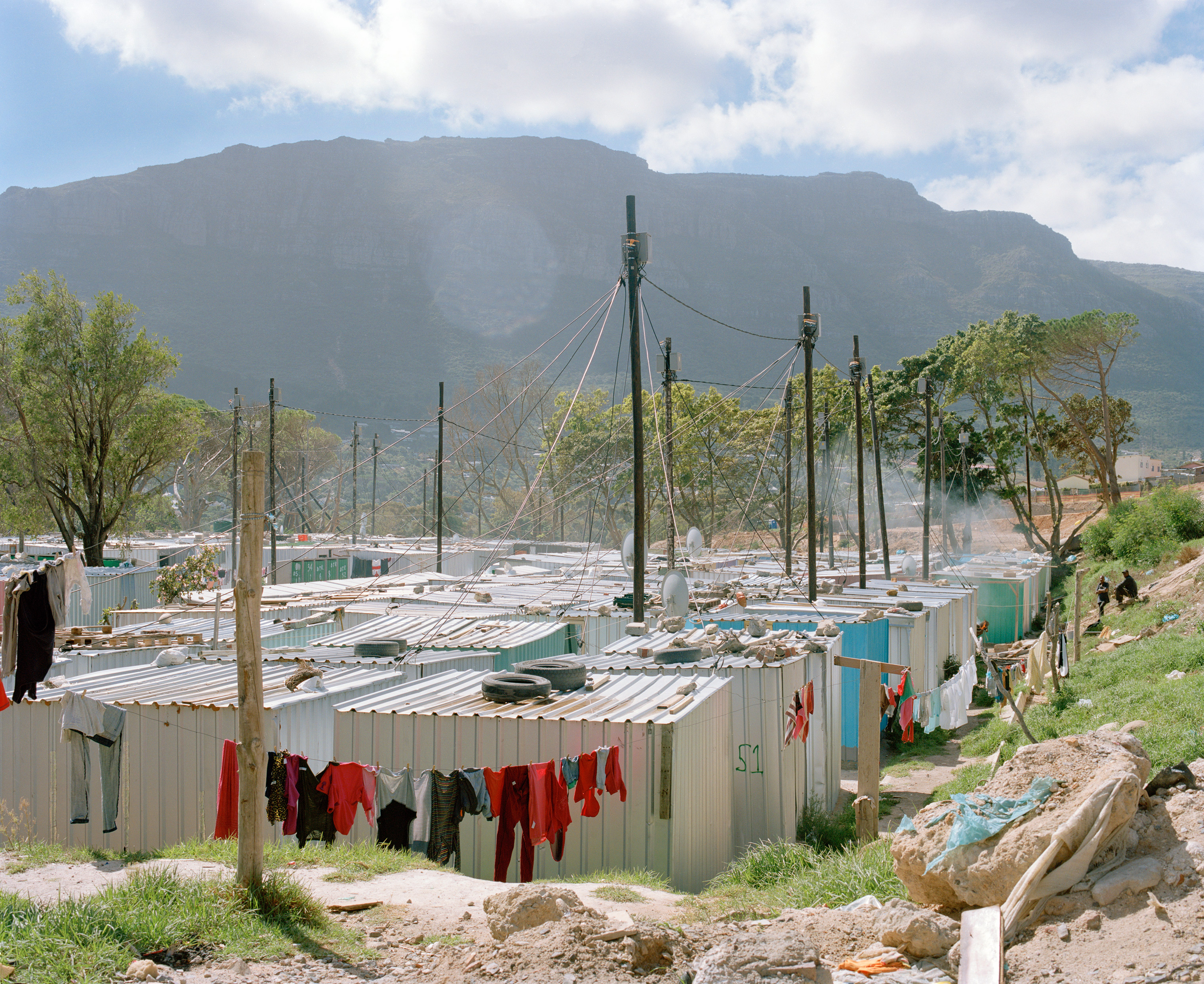 The informal settlement of Imizamo Yethu overlooks Hout Bay, apicturesque suburb of CapeTown.