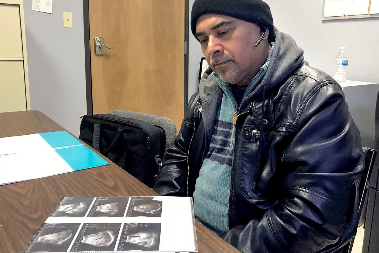 Carlos Rivera had been losing weight and living with fierce abdominal pain before being diagnosed with advanced colon cancer. He initially faced problems getting treatment because of a lack of options for Rio Grande Valley residents who were uninsured or couldn't afford to pay on their own.