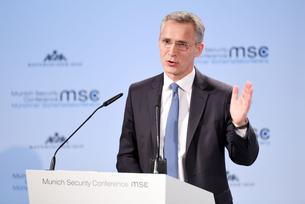 Jens Stoltenberg, NATO Secretary General at the Munich Security Conference in Bavaria, München on 15 February 2019
