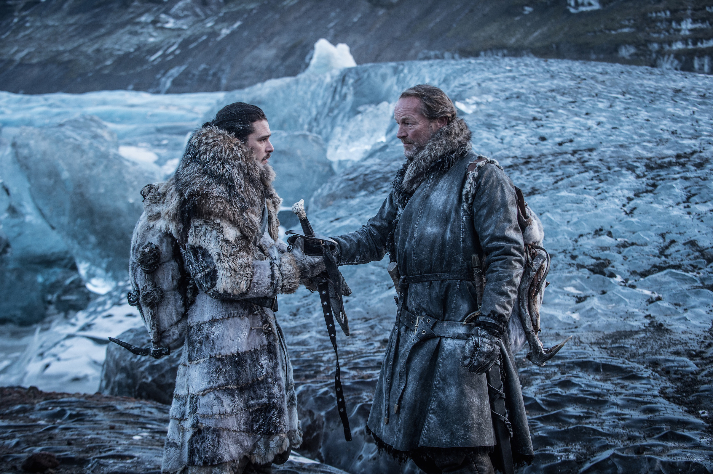 Kit Harington and Iain Glen in a scene from Game of Thrones