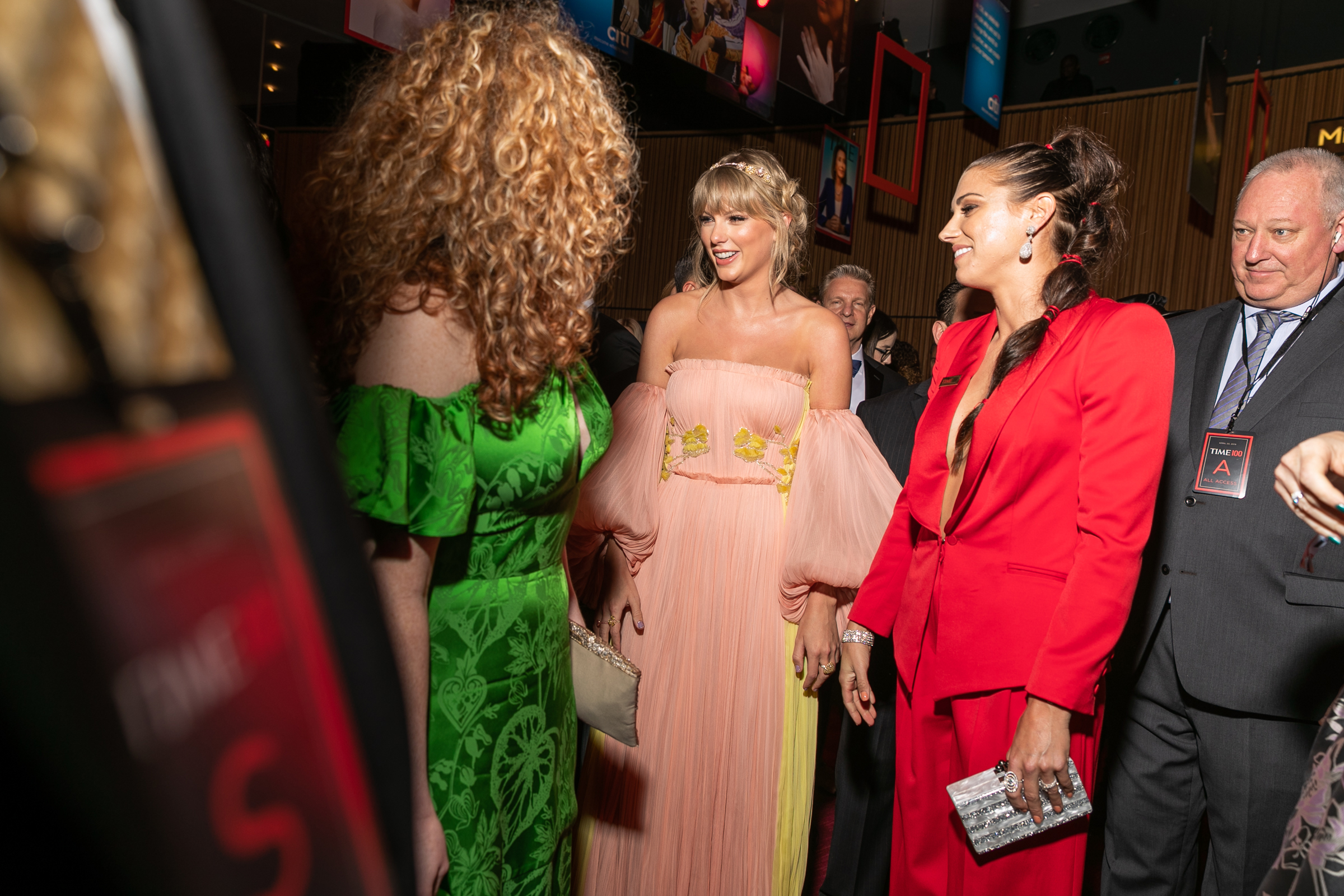 Taylor Swift and Alex Morgan at the Time 100 Gala at Jazz at Lincoln Center in New York City on April 23, 2019.