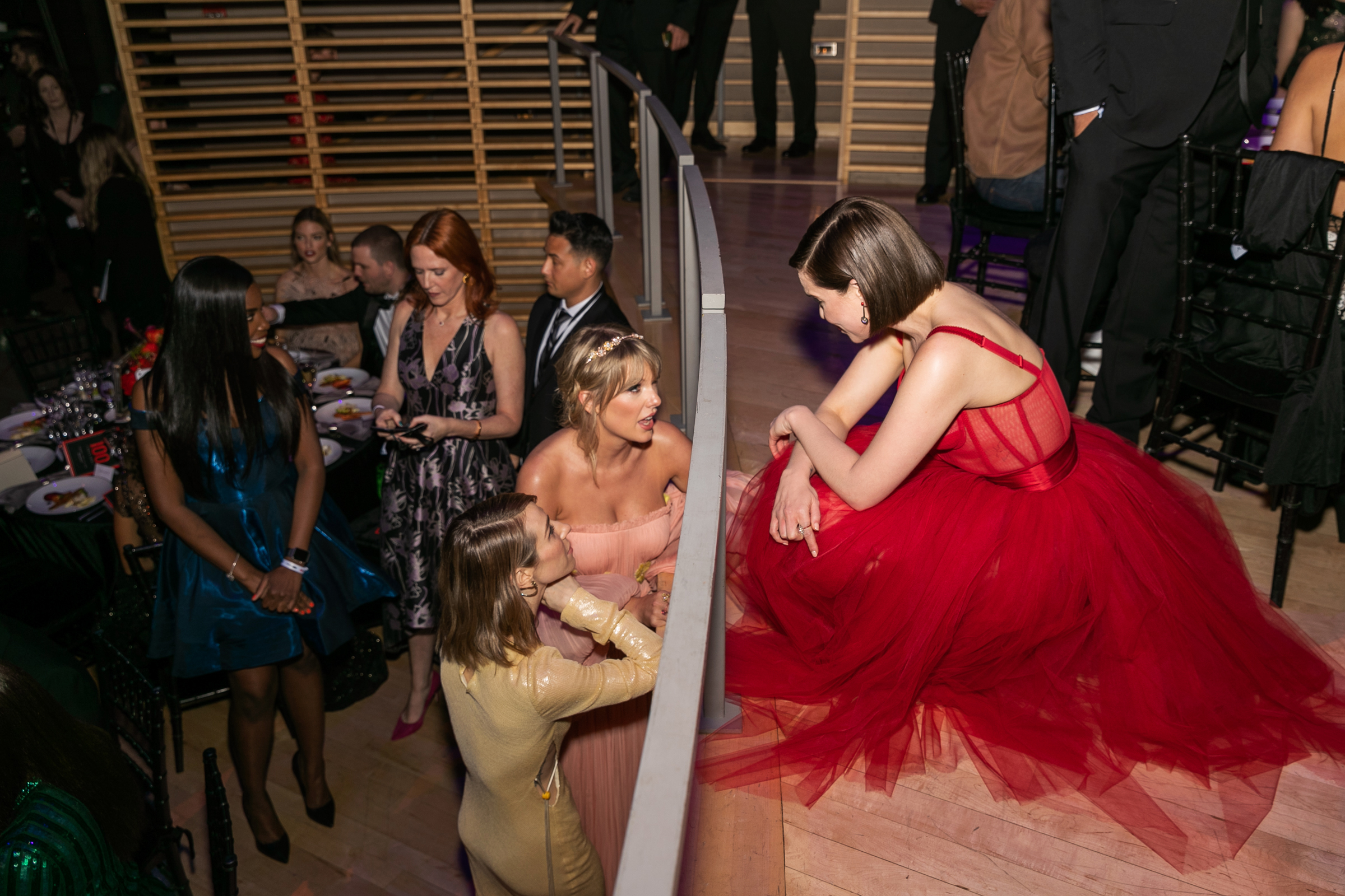 Taylor Swift and Emilia Clarke at the Time 100 Gala at Jazz at Lincoln Center in New York City on April 23, 2019.