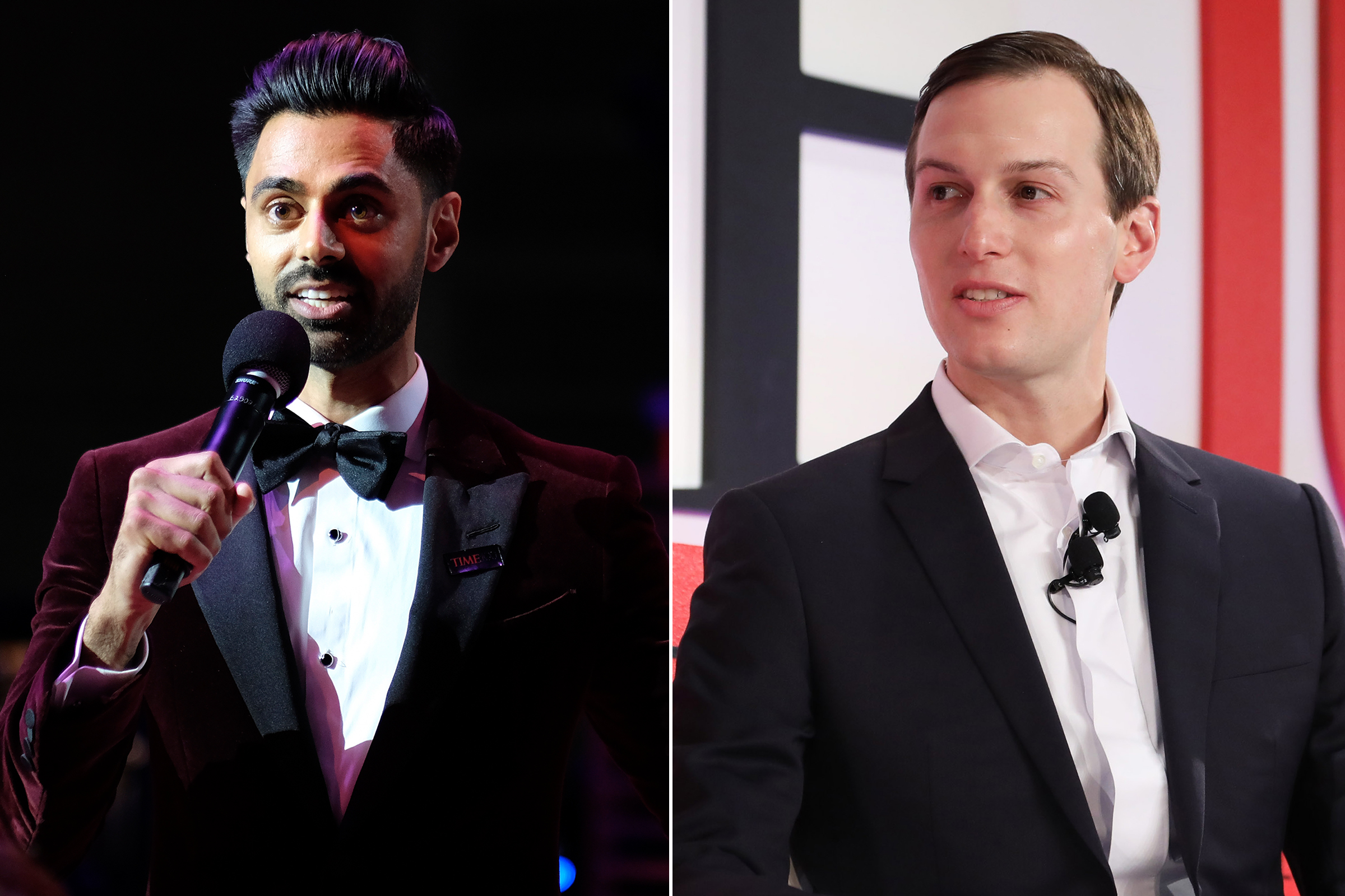 Hasan Minaj at the at the Time 100 Gala and Jared Kushner at the Time 100 Summit in New York City on April 23, 2019.