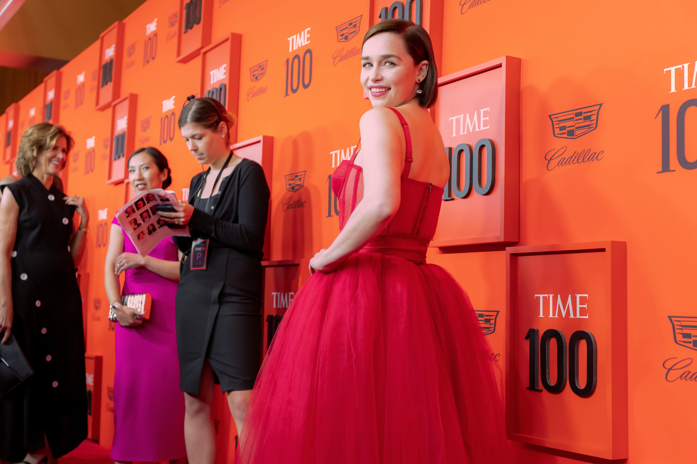 Emilia Clarke at the Time 100 Gala at Jazz at Lincoln Center in New York City on April 23, 2019.