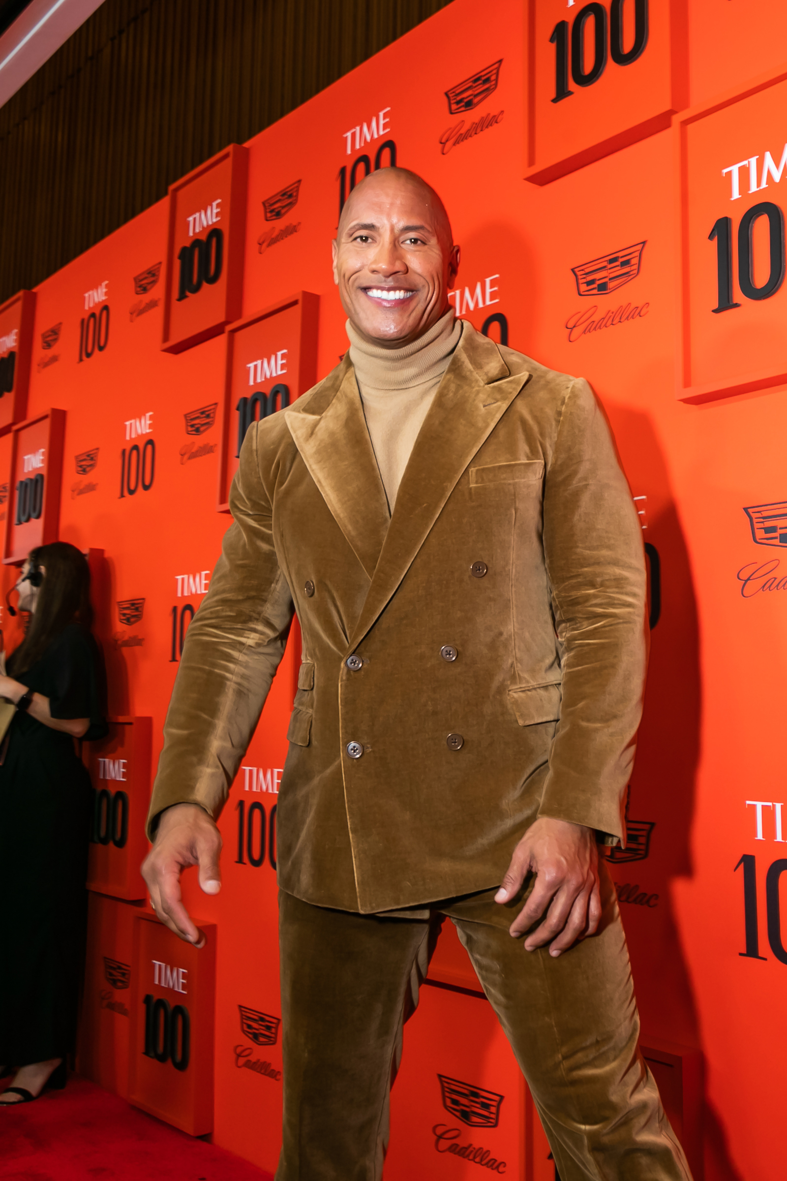 Dwayne the Rock Johnson at the Time 100 Gala at Jazz at Lincoln Center in New York City on April 23, 2019.