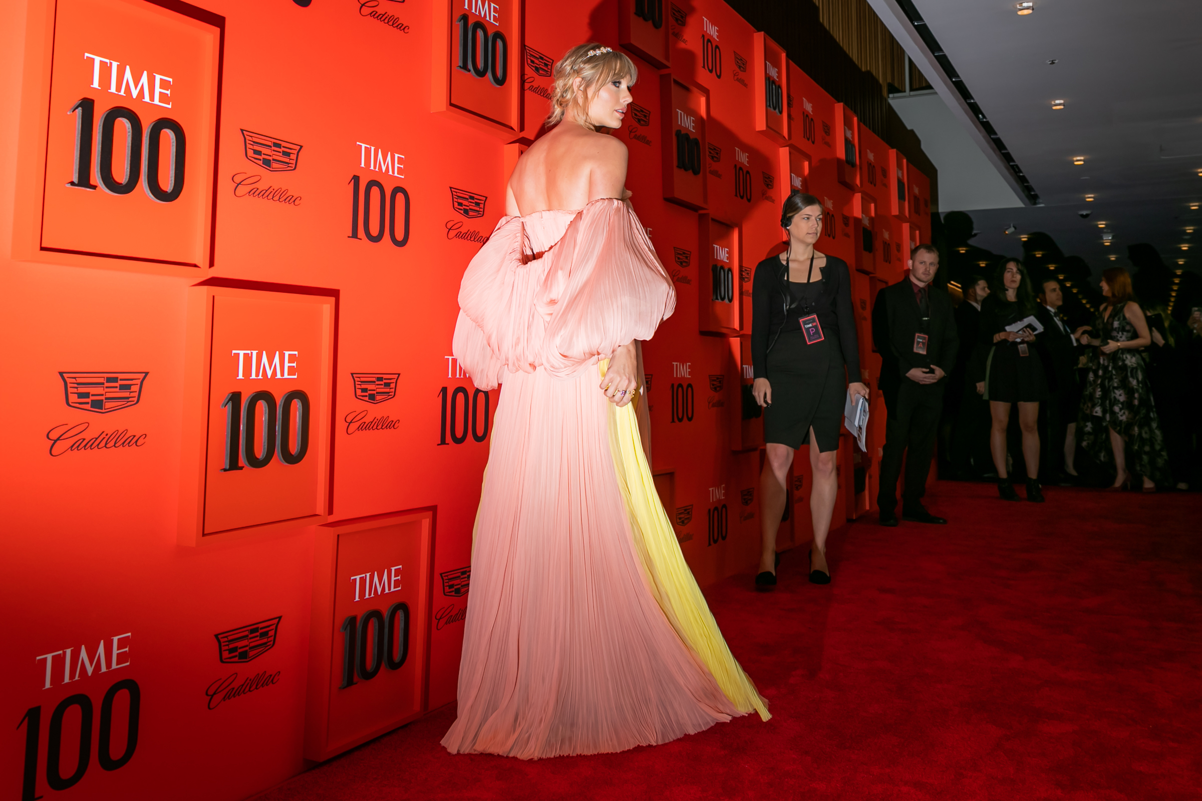 Taylor Swift at the Time 100 Gala at Jazz at Lincoln Center in New York City on April 23, 2019.