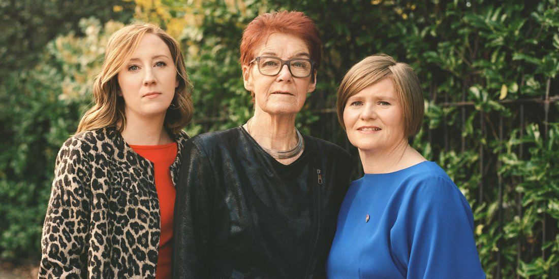 Co directors of Together for Yes, an abortion rights campaign group, Ailbhe Smyth, Grainne Griffin, Orla O'Connor