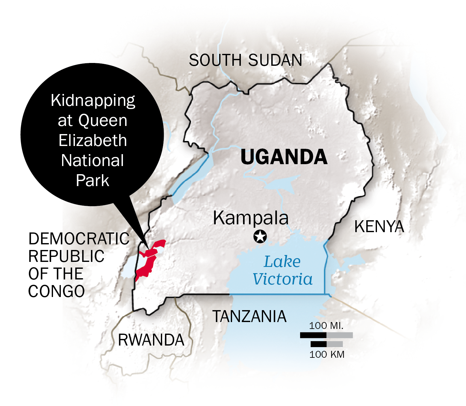 Uganda's Queen Elizabeth National Park shares a porous border with the Democratic Republic of Congo, where rebel and criminal groups are active