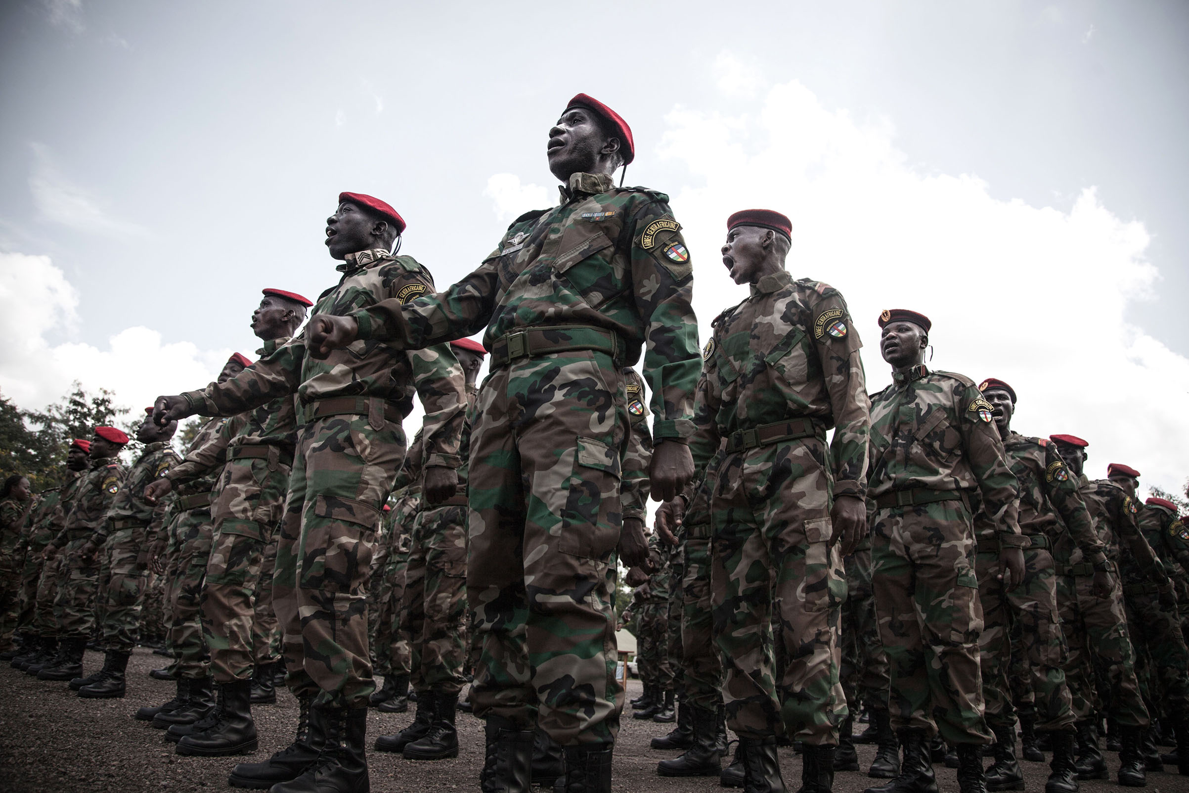 Russian consultants have trained Central African armed forces, seen here in August 2018.
