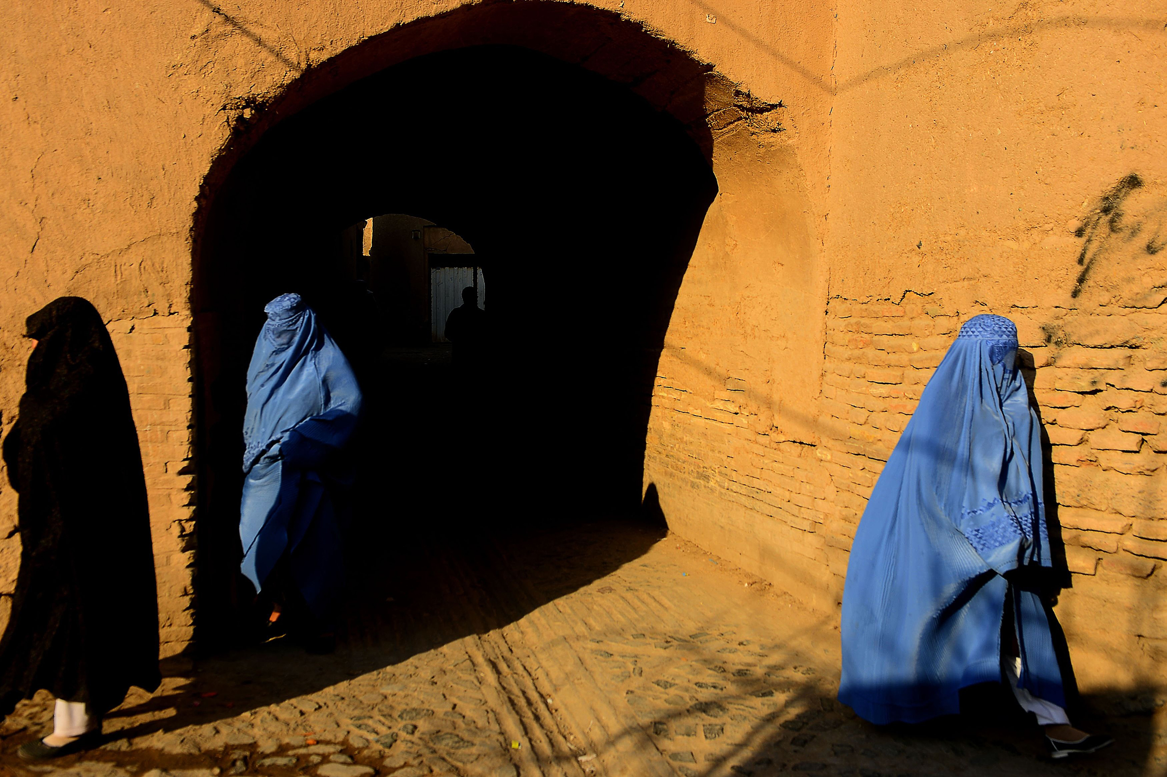 Women in the old section of Herat, Afghanistan, on Jan. 9, 2018