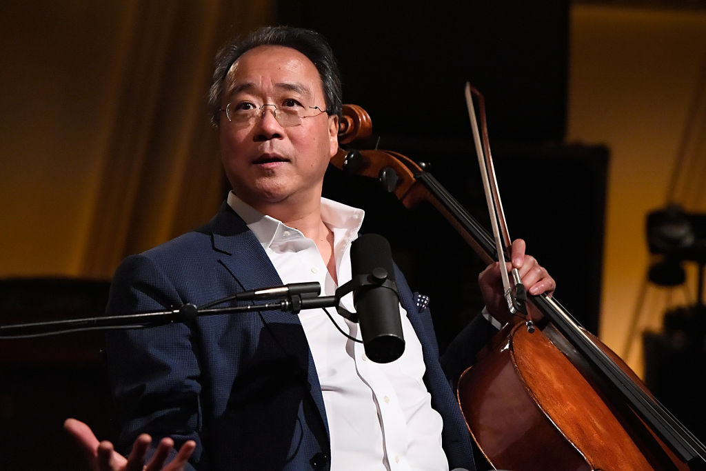 Yo-Yo Ma performs at SiriusXM's studios on June 25, 2018 in Washington, DC.