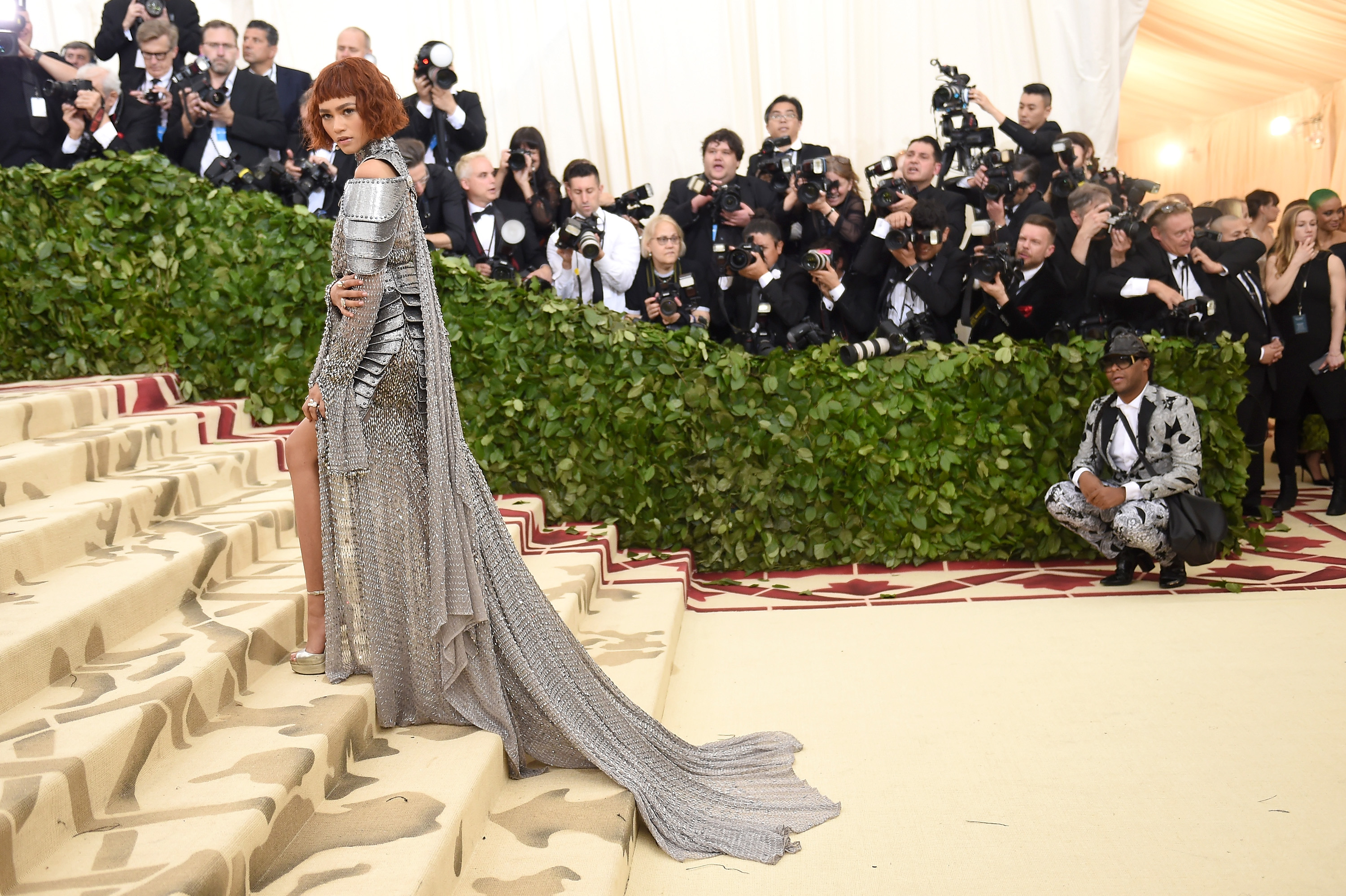 Zendaya attends the Heavenly Bodies: Fashion & The Catholic Imagination Costume Institute Gala at The Metropolitan Museum of Art on May 7, 2018 in New York City. (Photo by Jason Kempin/Getty Images)