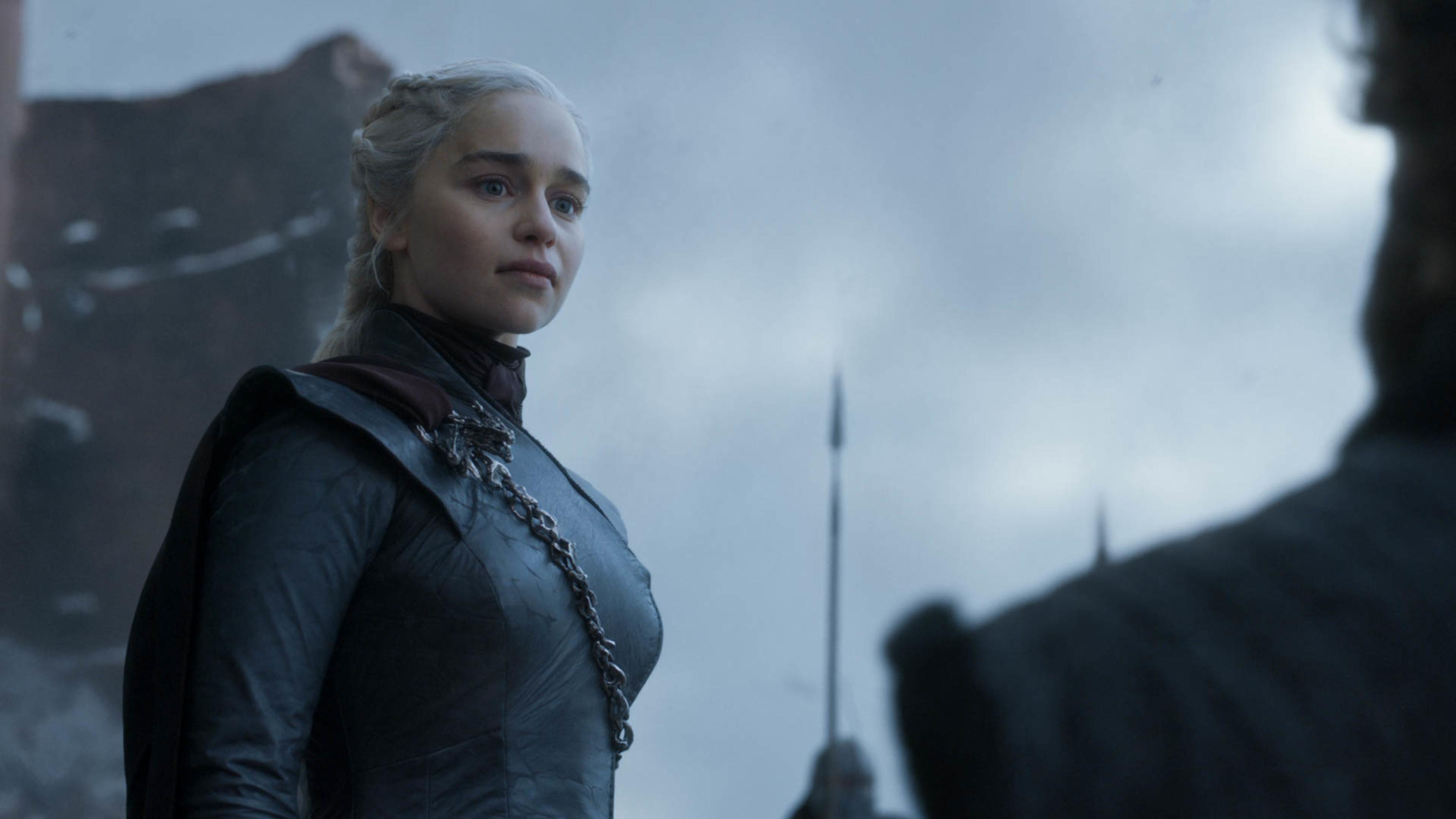 Emilia Clarke as Daenerys Targaryen in the series finale of Game of Thrones.