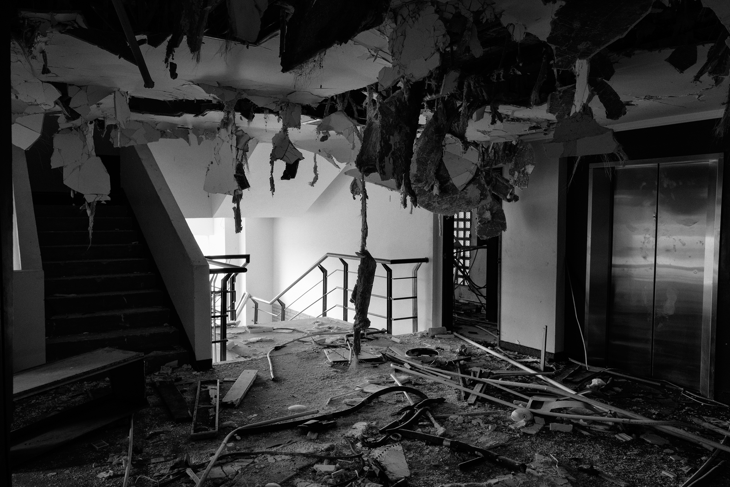 An interior of a hotel after it was looted in Maracaibo in April. The city has experienced widespread looting amid electricity blackouts and shortages.