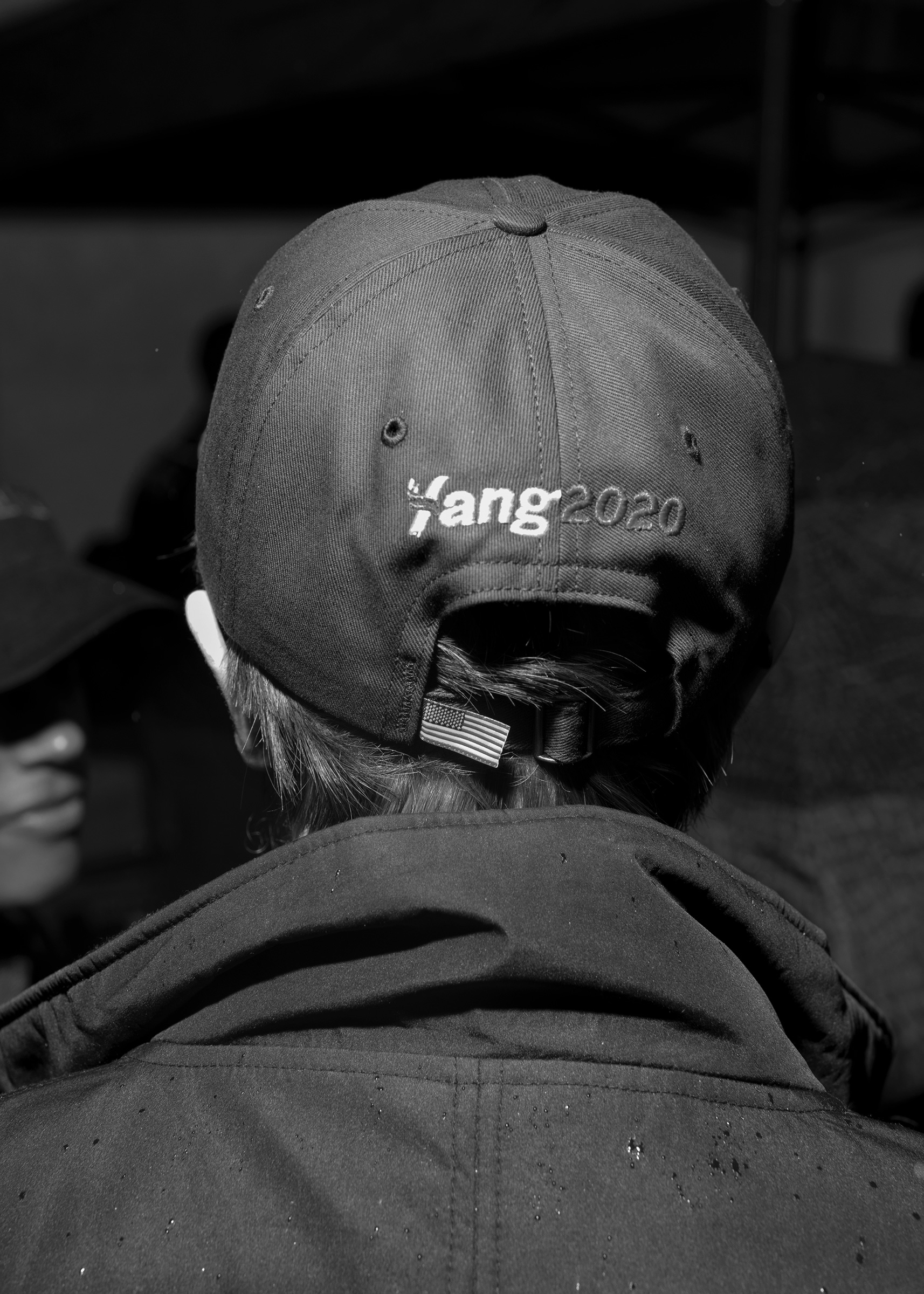 An Andrew Yang supporter at a rally in Washington Square Park, New York, May 14, 2019.