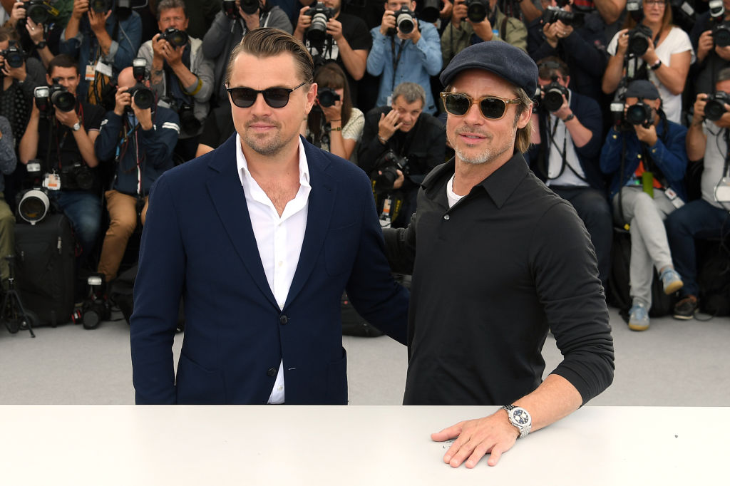 Leonardo DiCaprio and Brad Pitt attend the photocall for  Once Upon A Time In Hollywood  during the 72nd annual Cannes Film Festival on May 22, 2019 in Cannes, France.