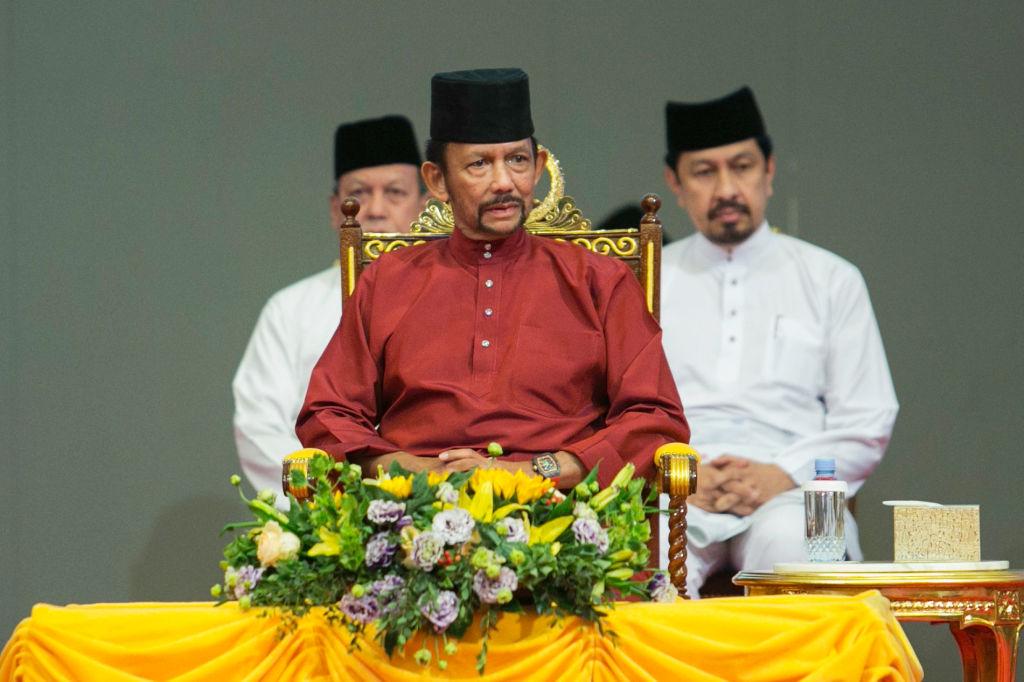 Brunei's Sultan Hassanal Bolkiah attends an event in Bandar Seri Begawan on April 3, 2019.
