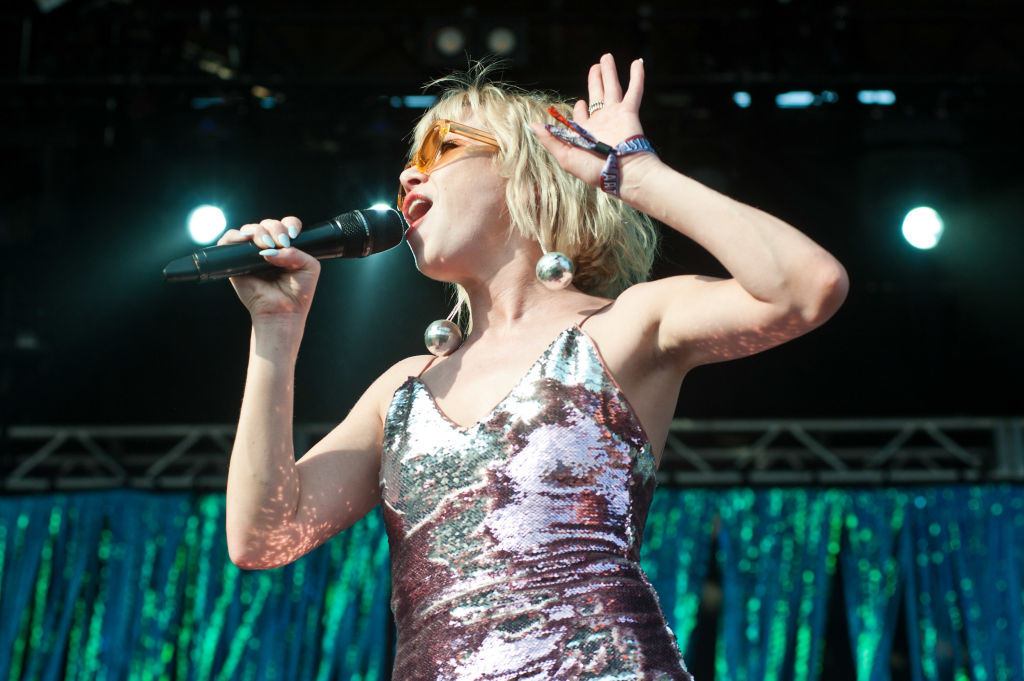Carly Rae Jepsen performs at Lollapalooza at Grant Park on August 4, 2018 in Chicago, Illinois.