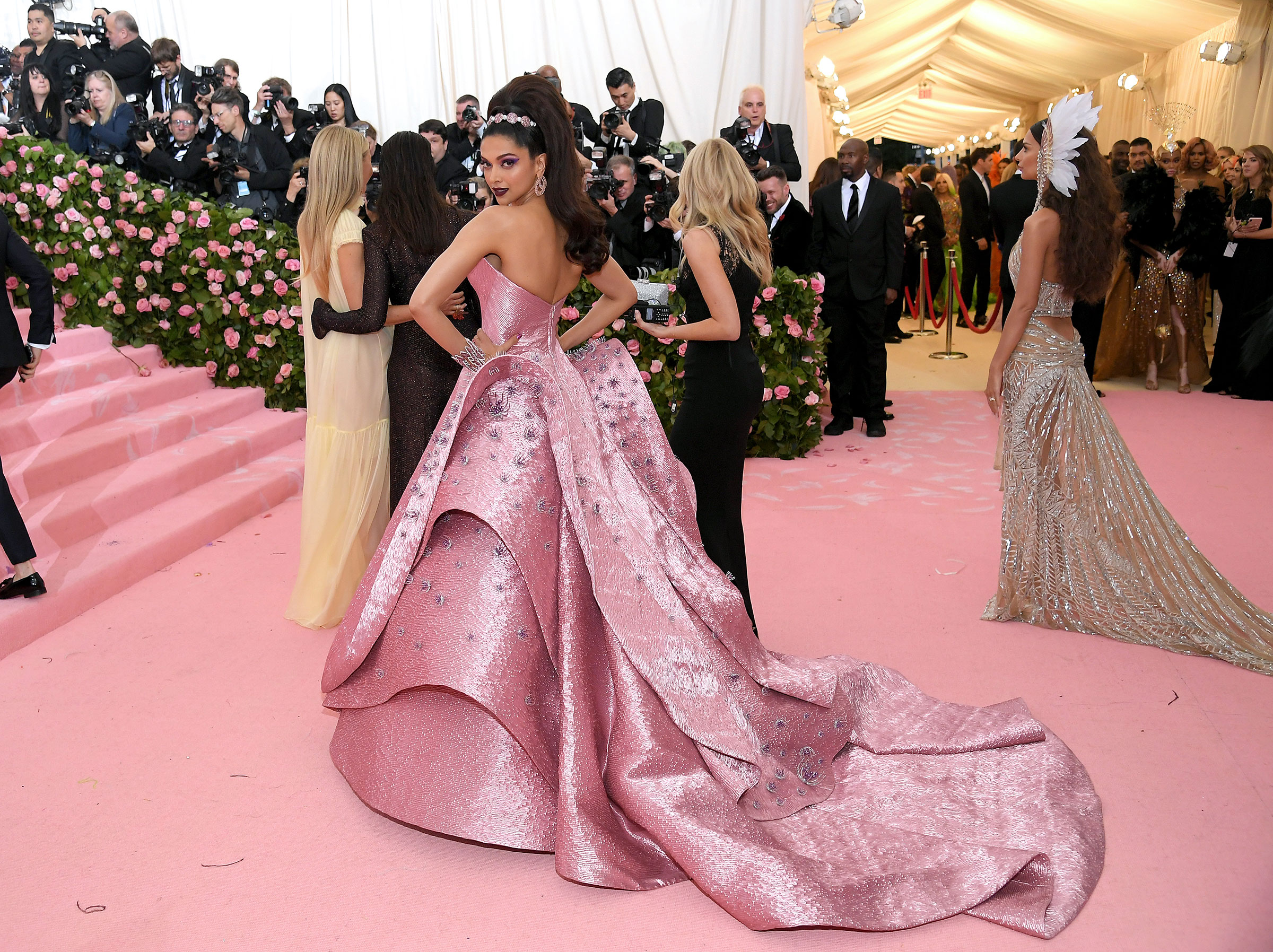 Deepika Padukone attends The 2019 Met Gala Celebrating Camp: Notes on Fashion at Metropolitan Museum of Art on May 06, 2019 in New York City.