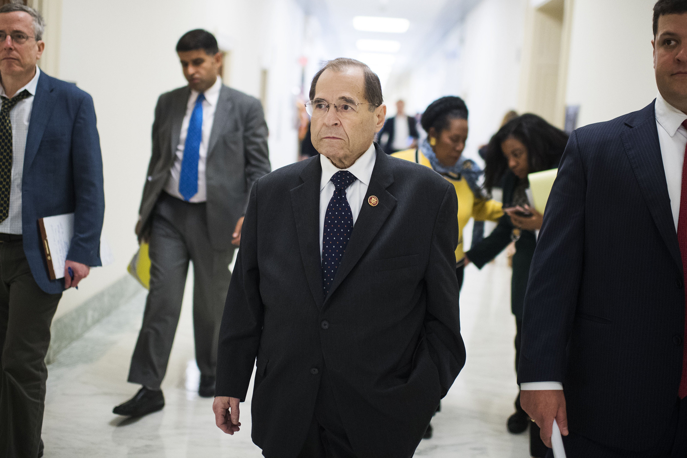 Chairman Jerrold Nadler, D-N.Y., is seen after a House Judiciary Committee hearing in Rayburn Building, Washington, D.C. on May 2, 2019.