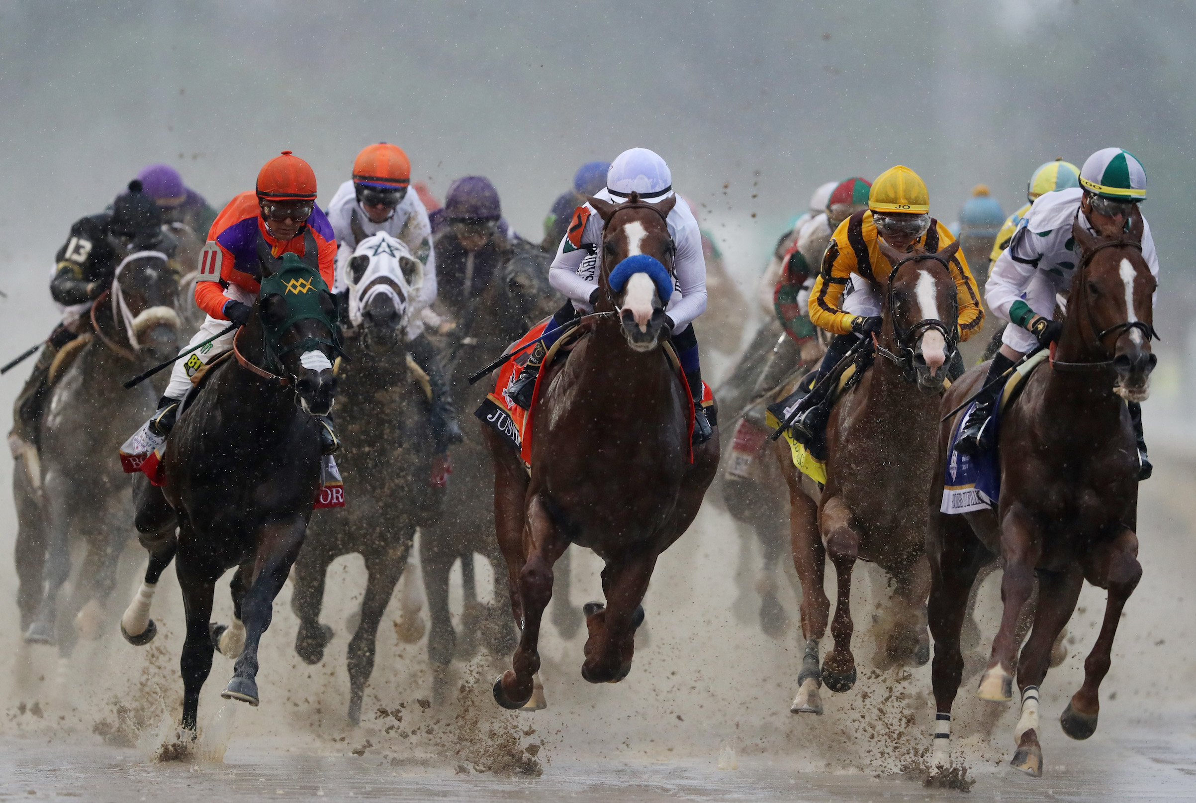 The 144th running of the Kentucky Derby at Churchill Downs on May 5, 2018 in Louisville, Ky.