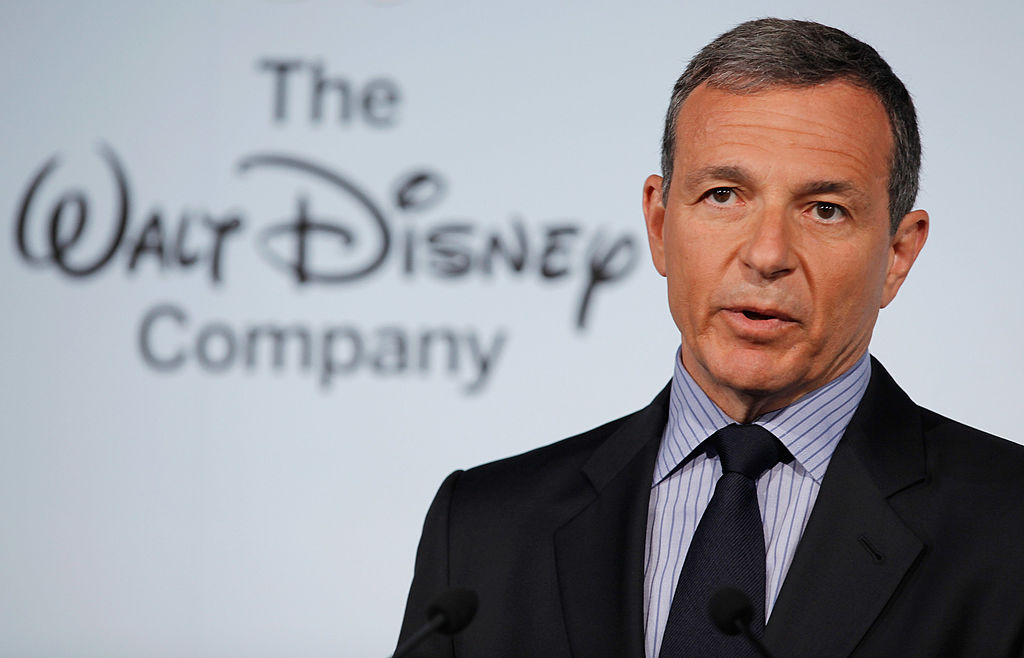 Walt Disney CEO Robert Iger delivers remarks during an event at the Newseum in Washington, D.C. on June 5, 2012.