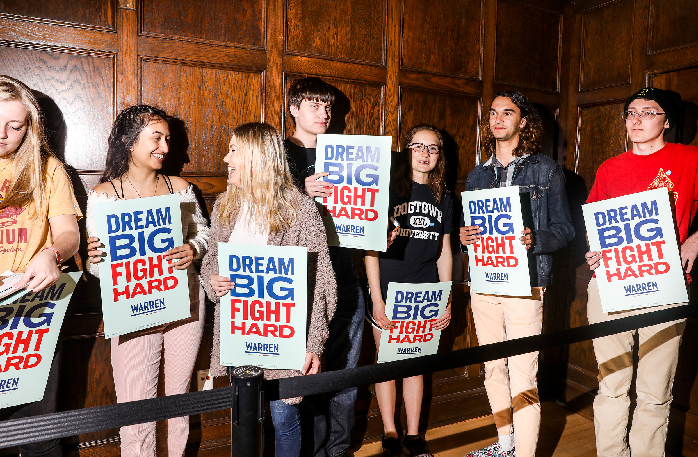 Student supporters at an organizing event at Iowa State University on May 3.