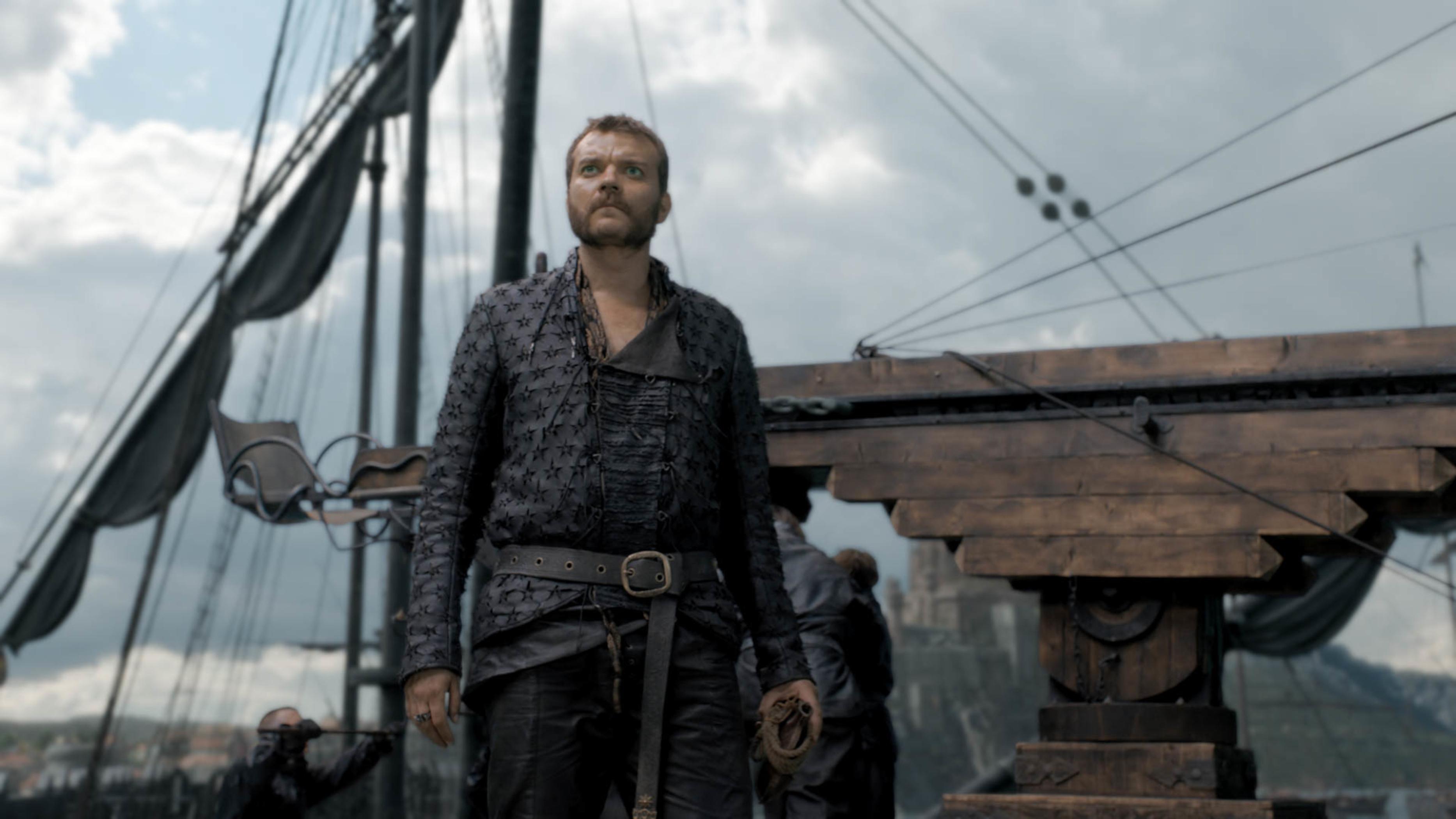 Pilou Asbæk as Euron Greyjoy.