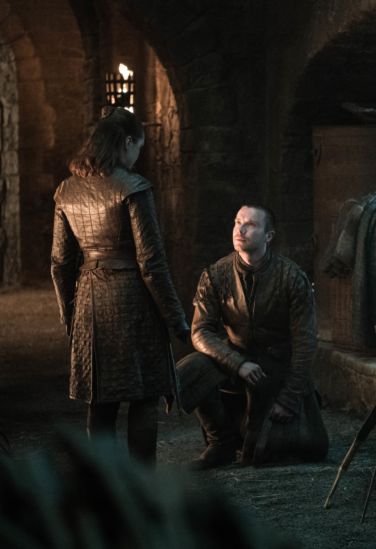 Gendry makes a proposal to Arya in Game of Thrones season 8 episode 4