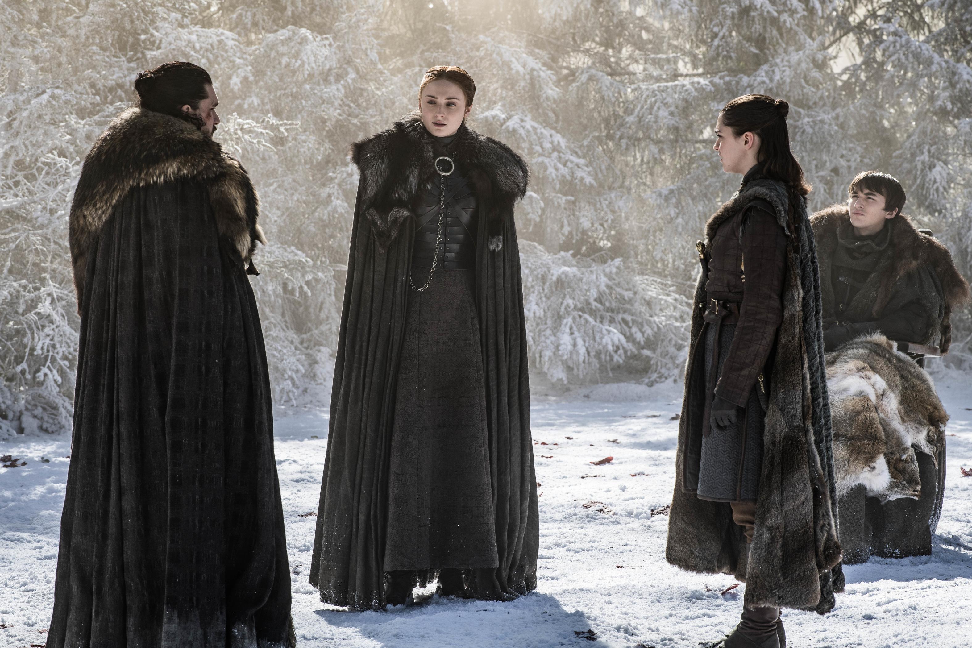 The Stark Siblings urge Jon to reconsider his loyalty