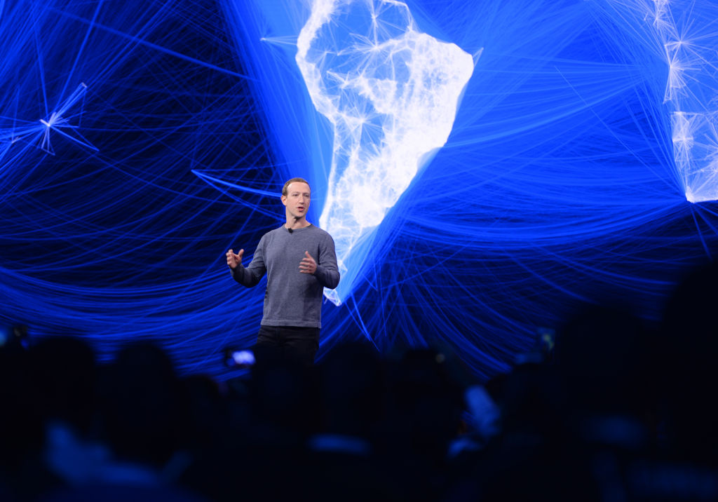 Facebook CEO Mark Zuckerberg speaks at the F8 developer conference at the McEnery Convention Center April 30 2019.