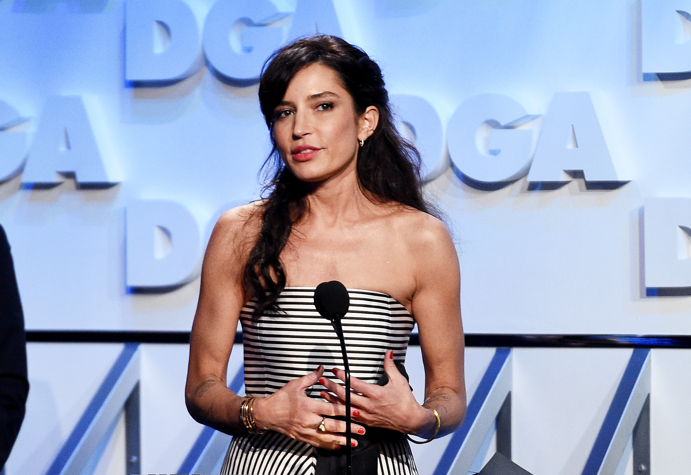 Director Reed Morano accepting an award for  The Handmaid's Tale  at the 70th Annual Directors Guild Of America Awards in 2018.