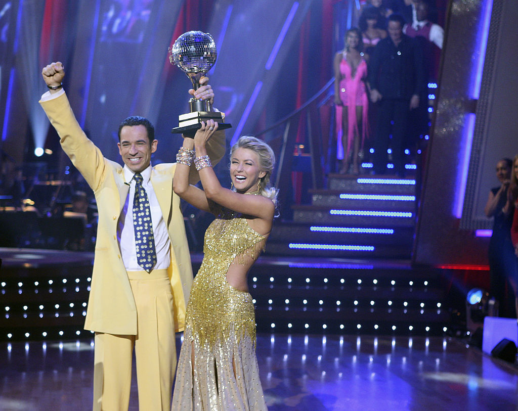 Indianapolis 500 Champion Helio Castroneves and his professional partner Julianne Hough were crowned champions on the fifth season of  Dancing with the Stars,  during the exciting two-part finale on Tuesday, November 27, 2007.