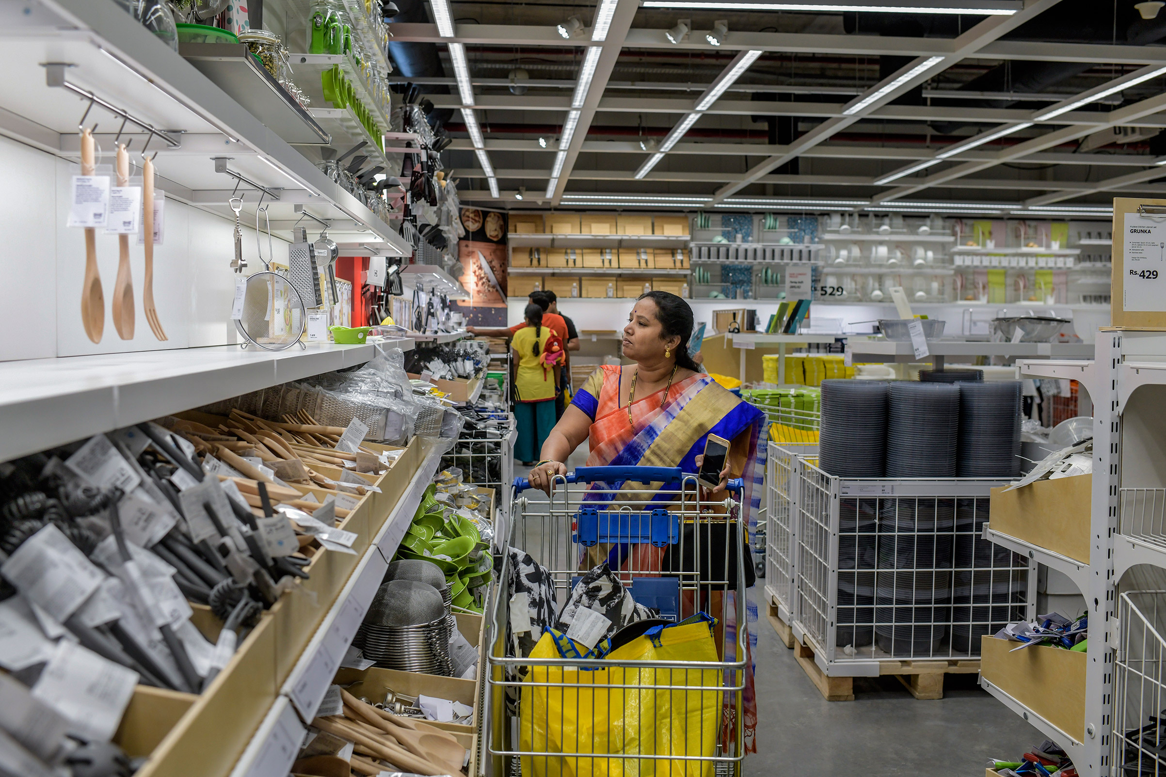 An Ikea customer in Hyderabad