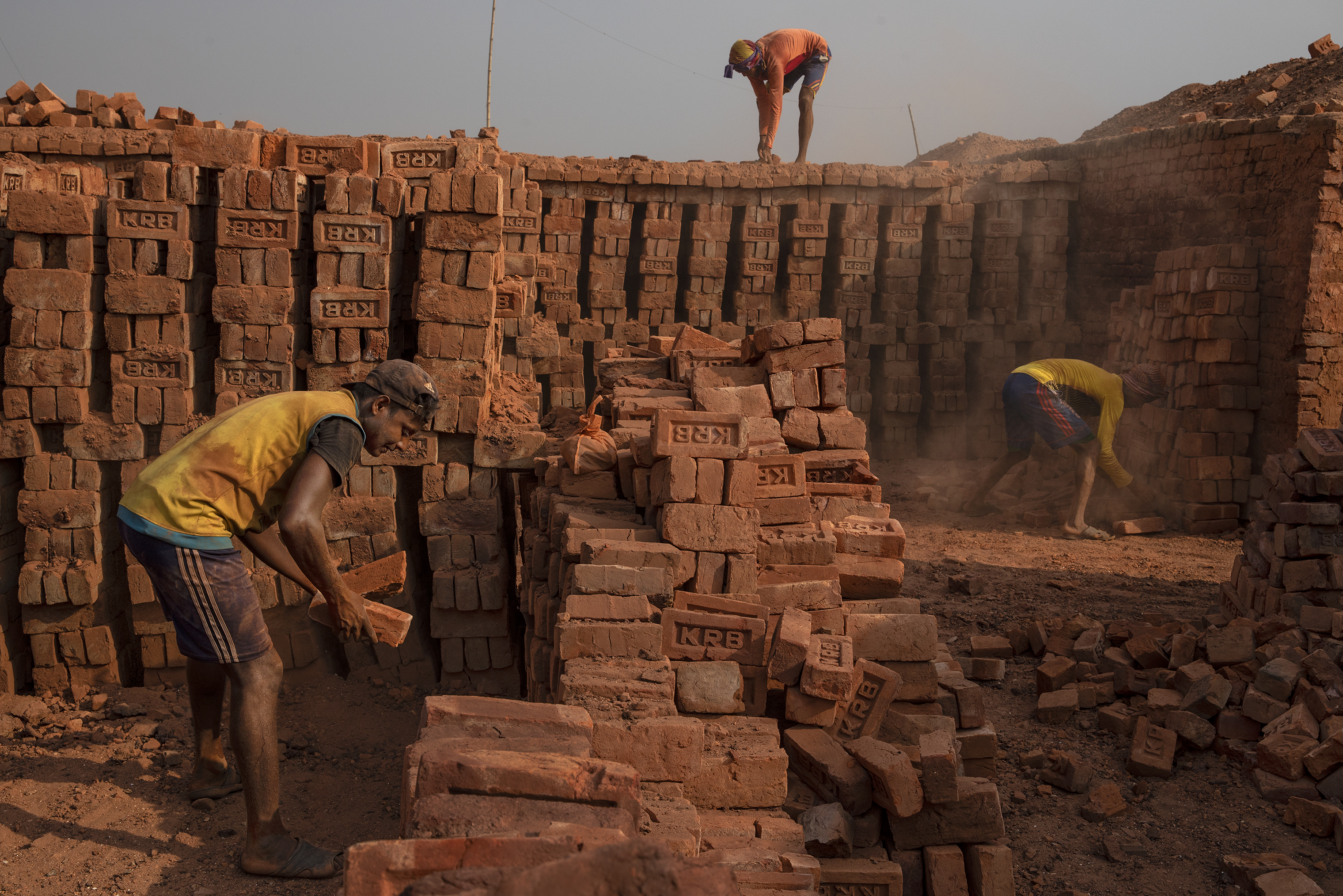 At a kiln outside Kutupalong camp, Rohingya refugees are employed for work that Bangladeshis won't do.