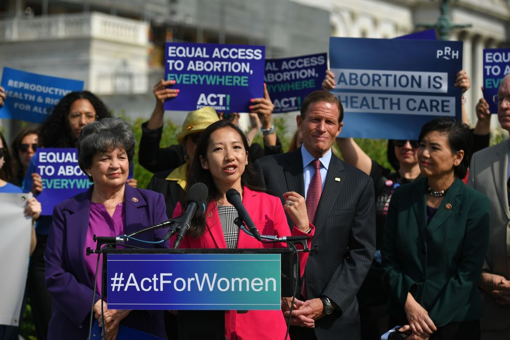 Leana Wen, President of Planned Parenthood, speaks during a press conference in Washington, DC, on May 23, 2019.