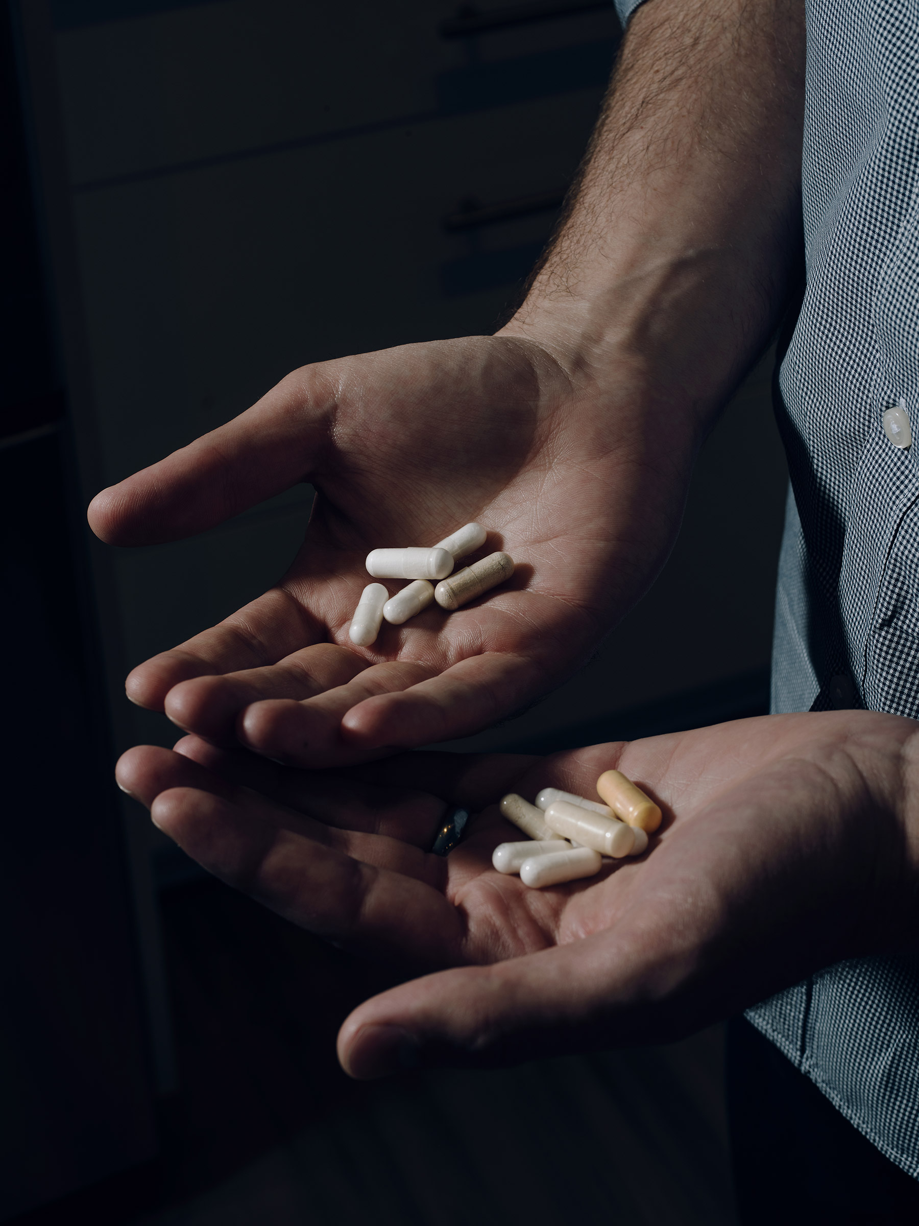 To keep his blood lead levels low, Virginia Tech shooting survivor Colin Goddard has to swallow 31 pills a day as part of his chelation treatment, a chemical process used to rid the body of excess or toxic metals.