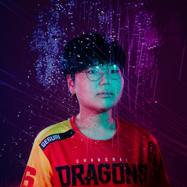 Kim 'Geguri' Se-yeon at the Blizzard Arena in Burbank, Calif., April 25, 2019.