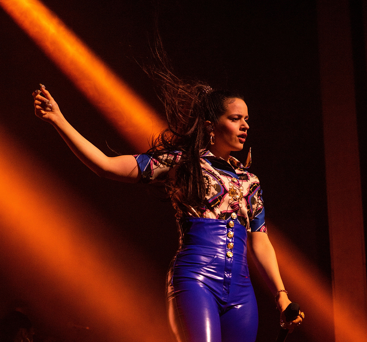 Rosalia performs at Webster Hall in New York, April 29, 2019.