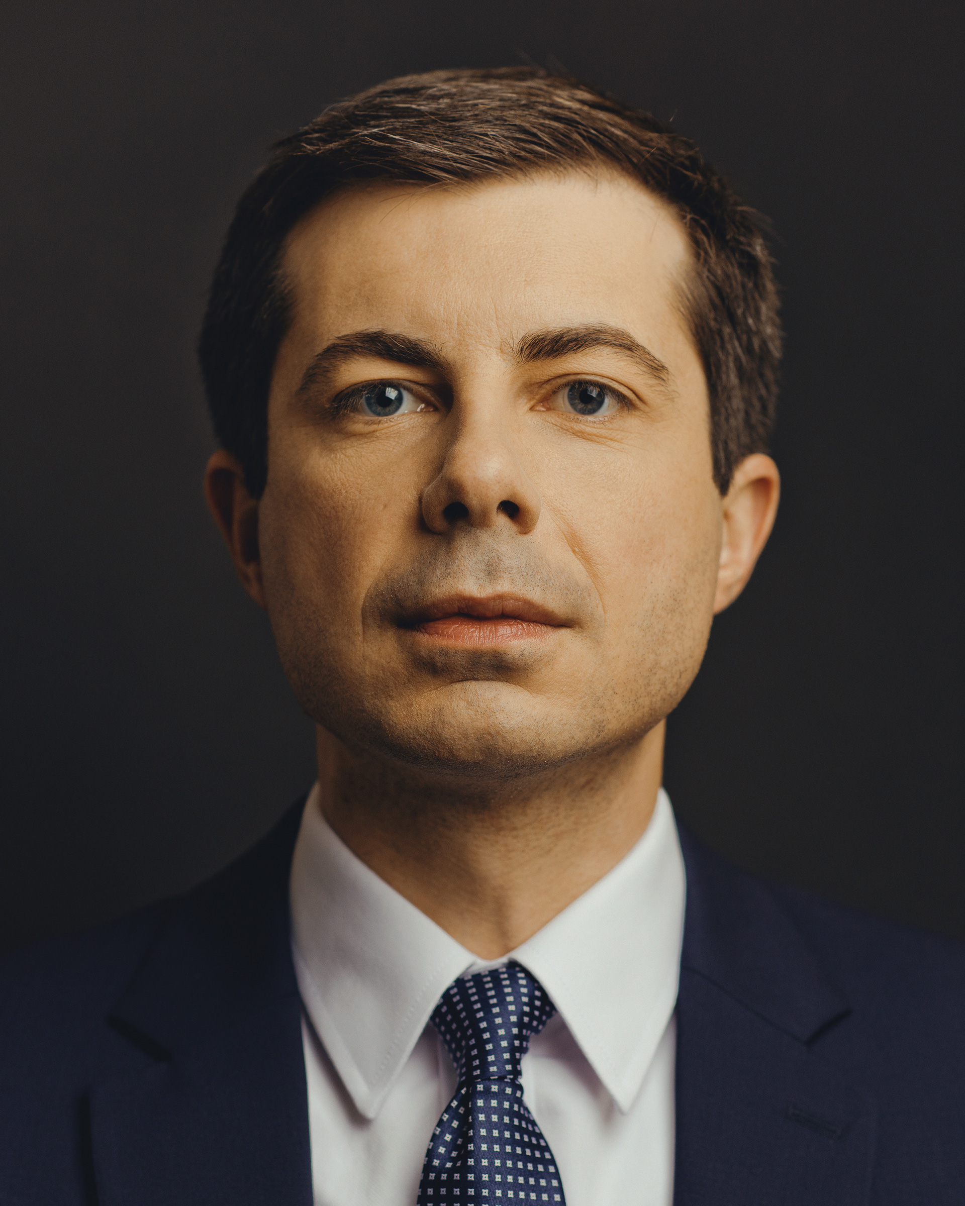 Mayor Peter Buttigieg photographed at home in South Bend, Ind.