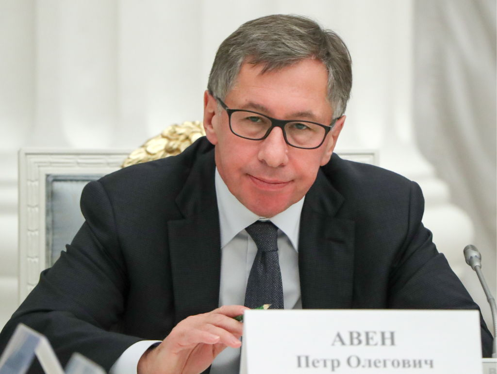 Petr Aven, Alfa Bank Board of Directors member and ABH Holdings S.A. Chairman of the Board, ahead of a meeting of Russian President Vladimr Putin with Russian businessmen at the Moscow Kremlin.