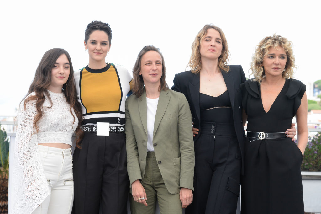 From left to right, Luana Bajrami, Noemie Merlant, Celine Sciamma, Adele Haenel and Valeria Golino attend the photocall for  Portrait Of A Lady On Fire (Portrait De La Jeune Fille En Feu)  during the 72nd annual Cannes Film Festival on May 20, 2019 in Cannes, France.