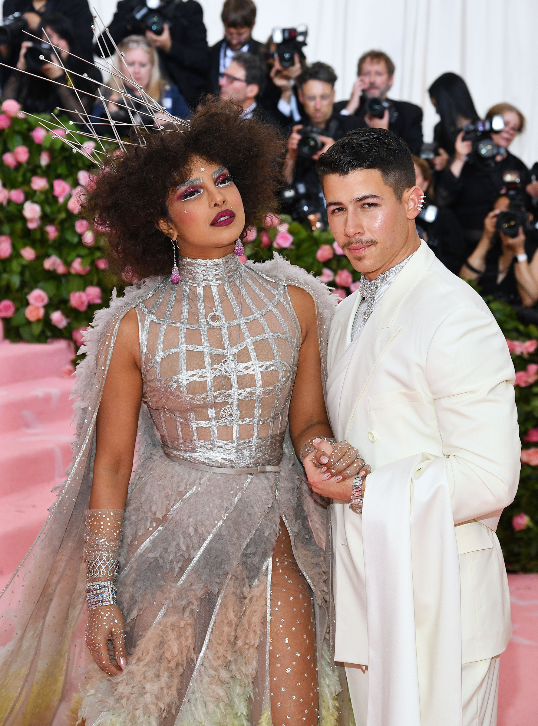 Priyanka Chopra and Nick Jonas attend The 2019 Met Gala Celebrating Camp: Notes on Fashion at Metropolitan Museum of Art on May 06, 2019 in New York City.