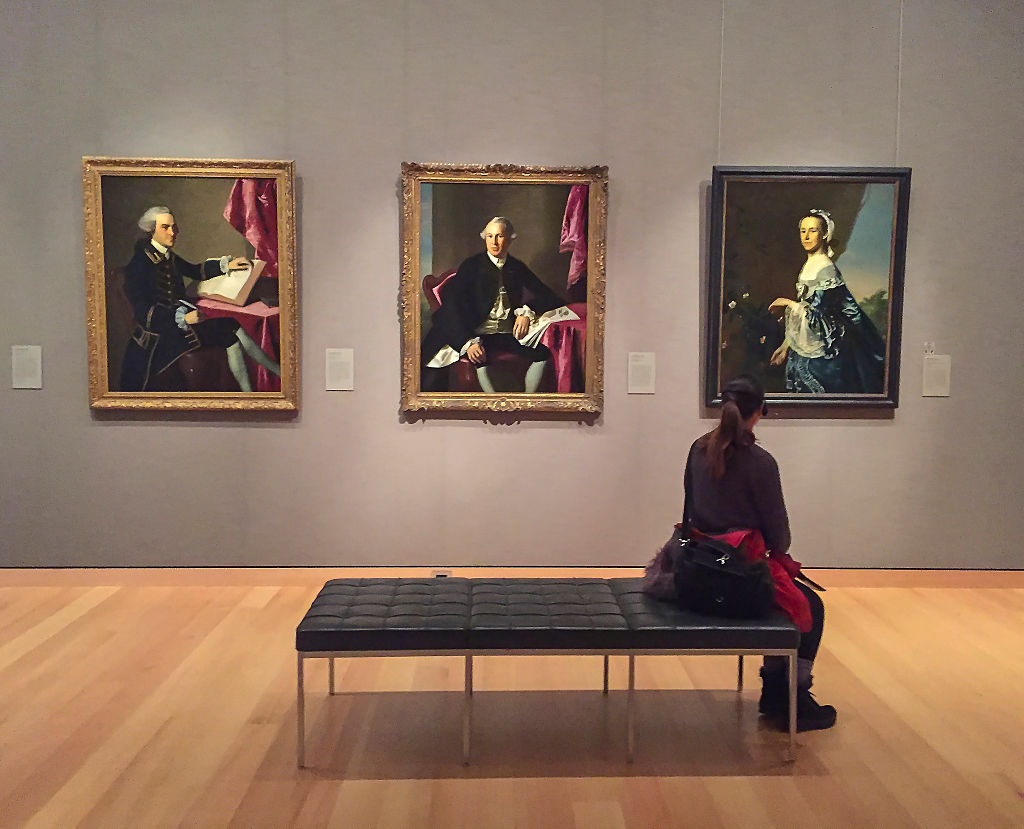 A gallery at the Museum of Fine Arts in Boston, MA.